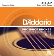 Струны D`Addario EJ15 Phosphor Bronze Extra Light 10-47