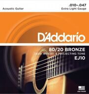 Струны D'Addario EJ10 80/20 Bronze Extra Light 10-47
